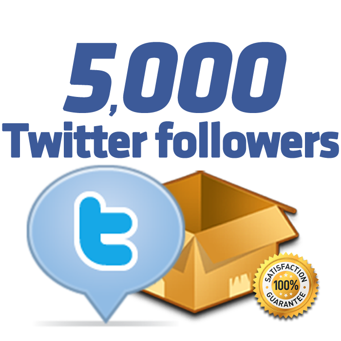 give 5000+ twitter followers