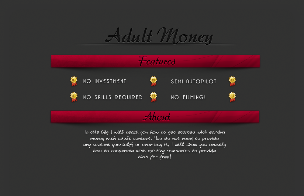 teach you how to earn money with adult content
