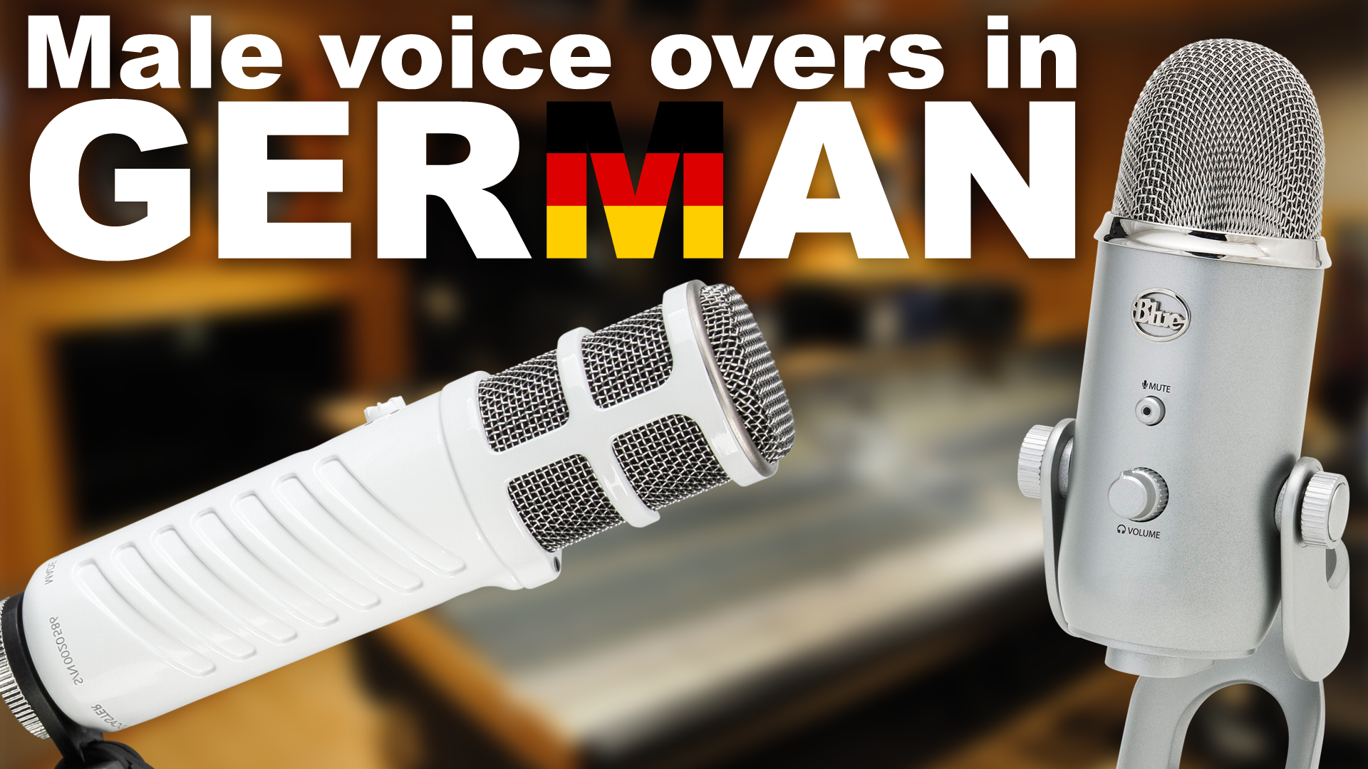 record a professional male voiceover in German