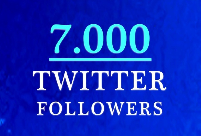 GIVE  YOU REAL 3000 HUMAN TWITTER FOLLOWERS