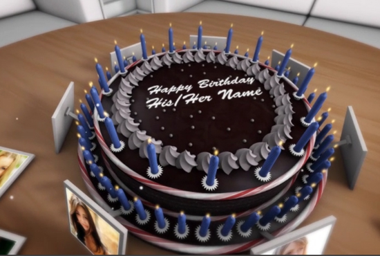 do nice birthday video for your loved ones