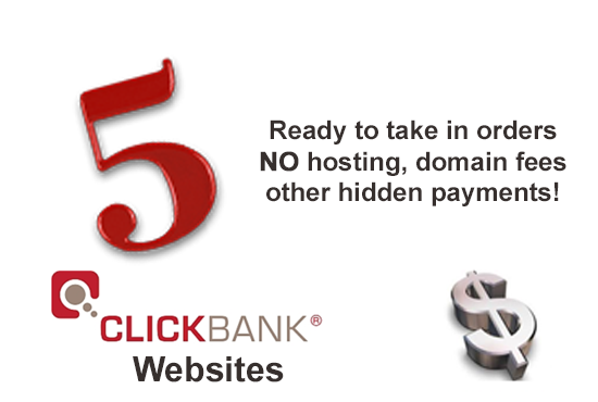 give 3 Money websites selling Clickbank products from top 3 Niche