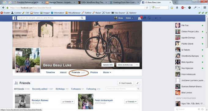provide a facebook account with 500+ friends