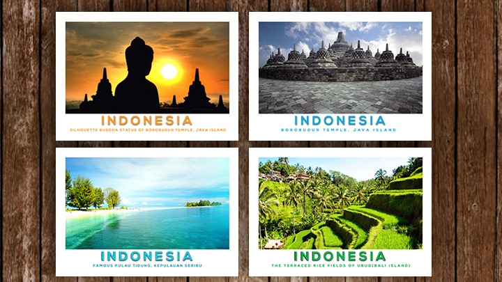send you POSTCARD from INDONESIA