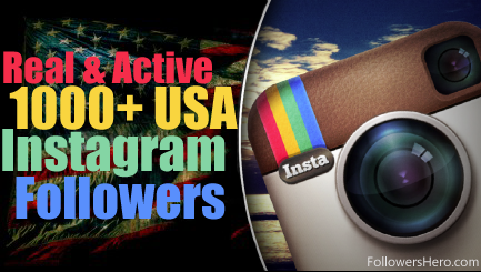 give you 1000 USA instagram followers