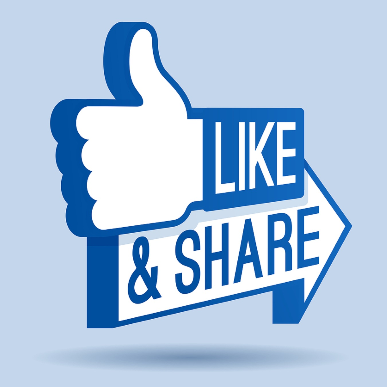 Get 280-300 likes and share on your Facebook page and clicks to your desired link