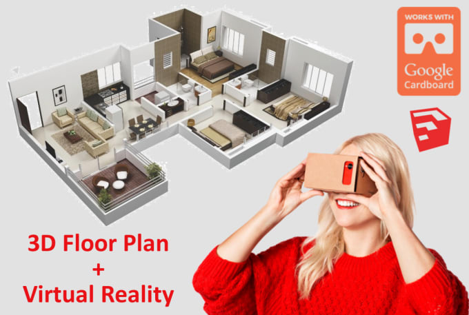 transform your 2D floor plan into VR ready renders