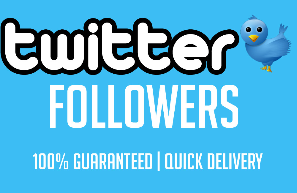 give you 4000+ twitter real Followers