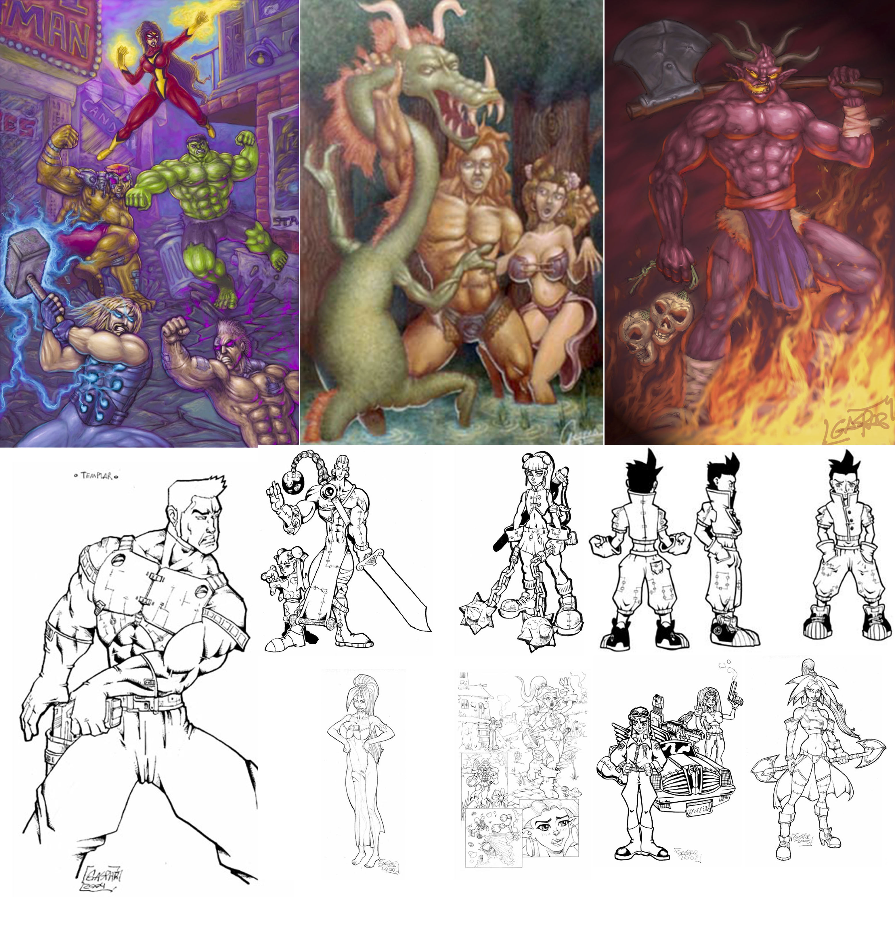 draw and paint any fantasy character or creature in Painter or Photoshop