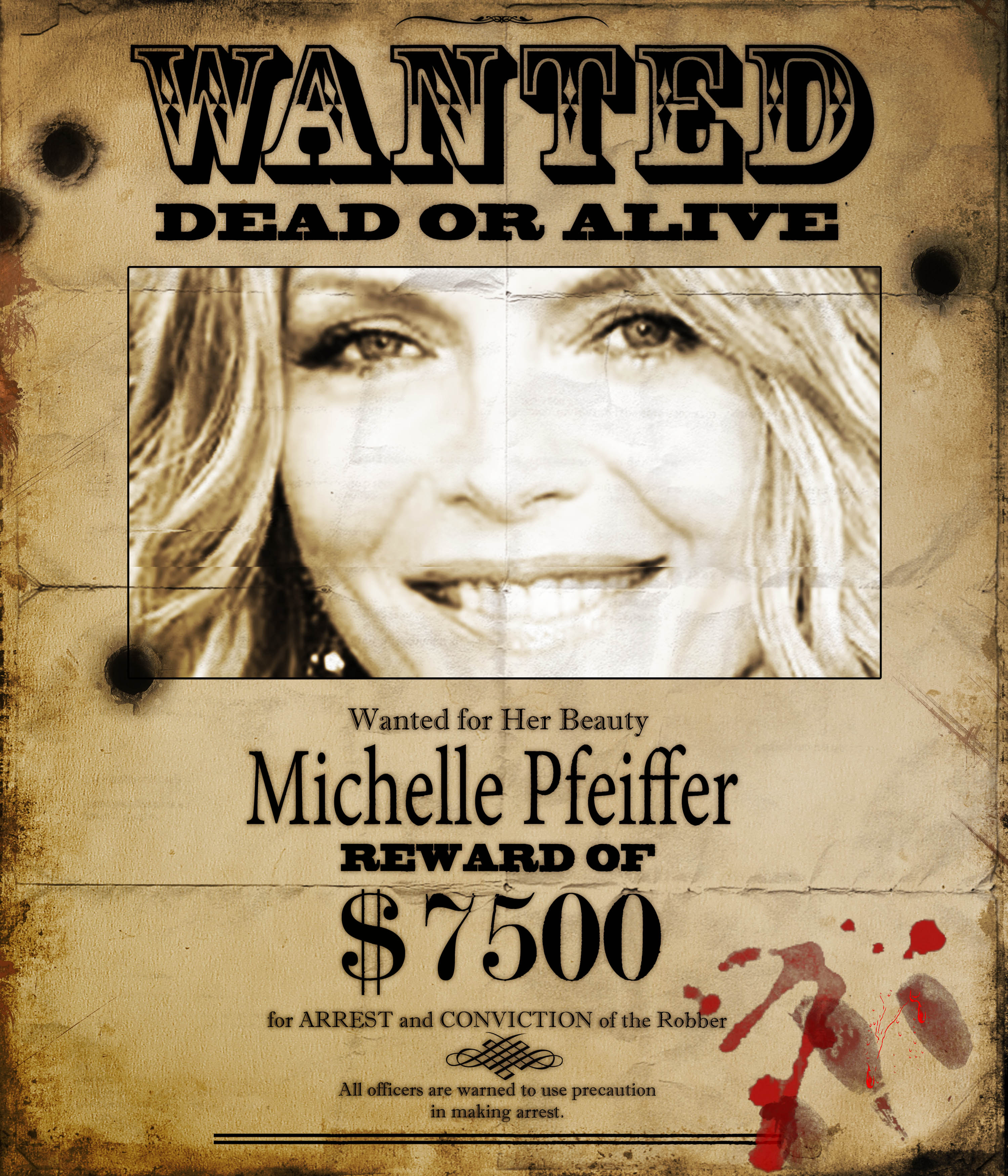 make you an old wanted poster