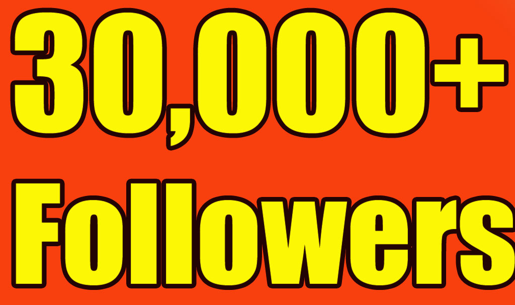 Give you 30,000+Super Fast Twitter Real Followers.