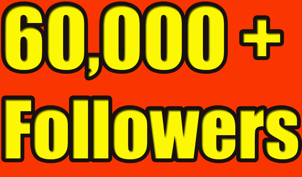 Give you 60,000+Super Fast Twitter Real Followers.