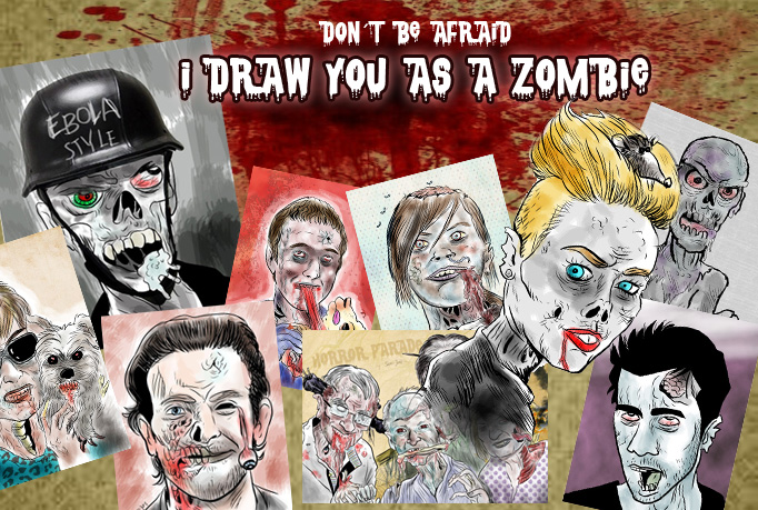 draw you as a zombie