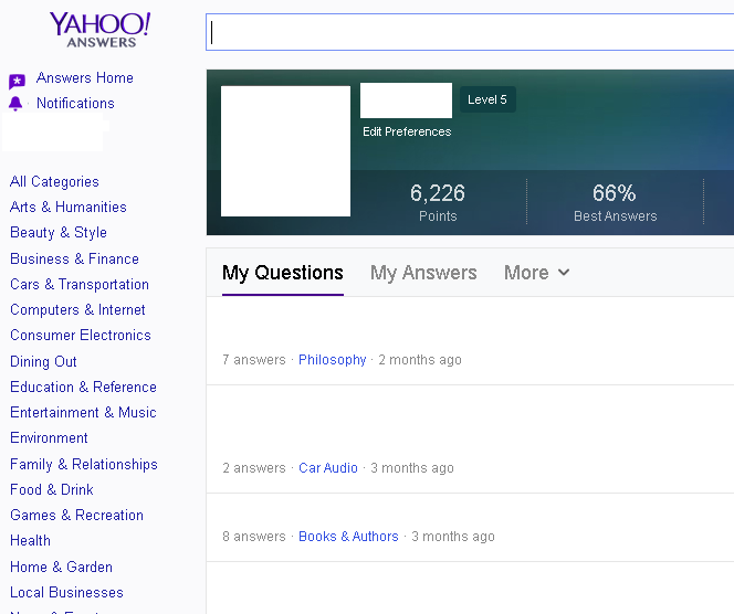 Answer 6x yahoo answer Questions with lvl 5/6 account with your link and / or pic