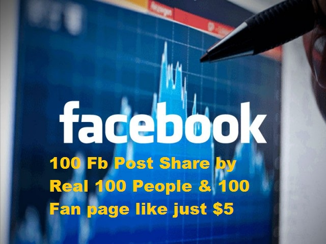 Provide you 100 Share by Real FB people