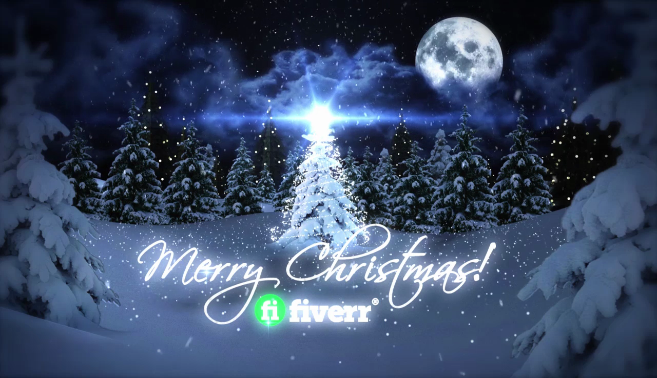 make this beautiful Christmas greeting video with your logo