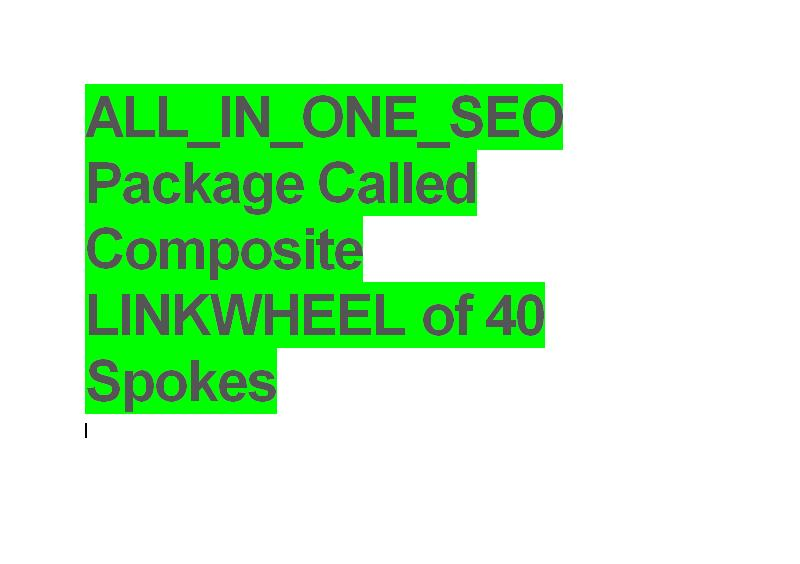 manually Setup ALL_IN_ONE_SEO Package referred to as Composite LINKWHEEL of 40 Spokes