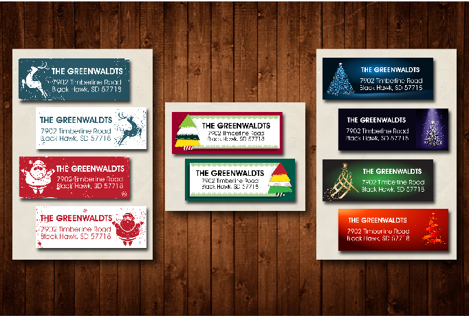 sell you a Christmas Address Label digital file
