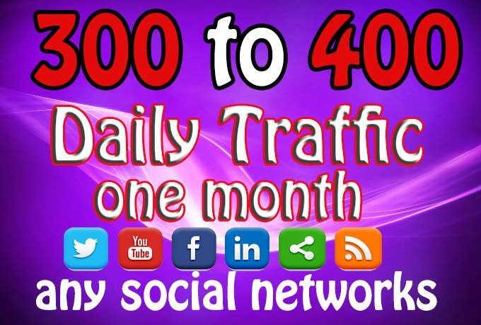 send you 300 - 400 visits dialy for 30days to your site (mostly usa visits)