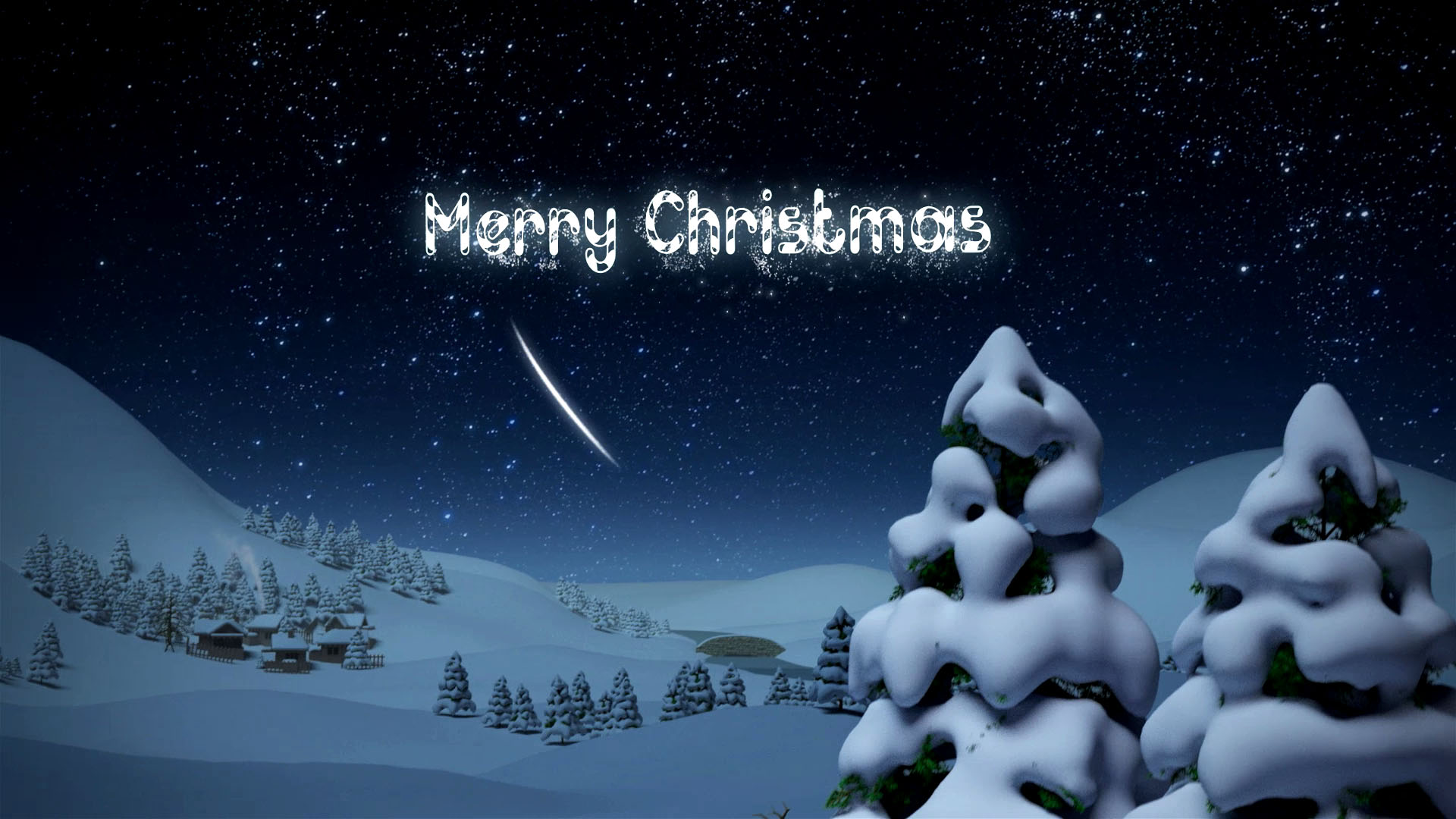 give Santa Claus Merry Christmas and Happy New Year Video