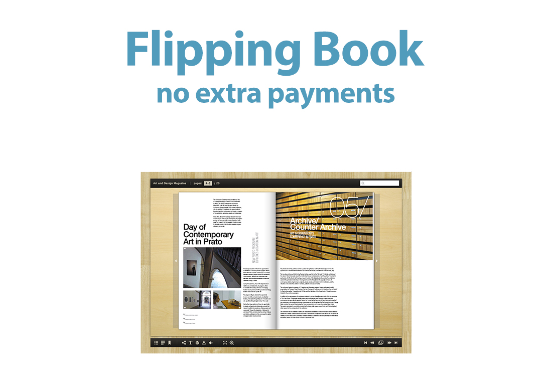 create a flip book or flip magazine