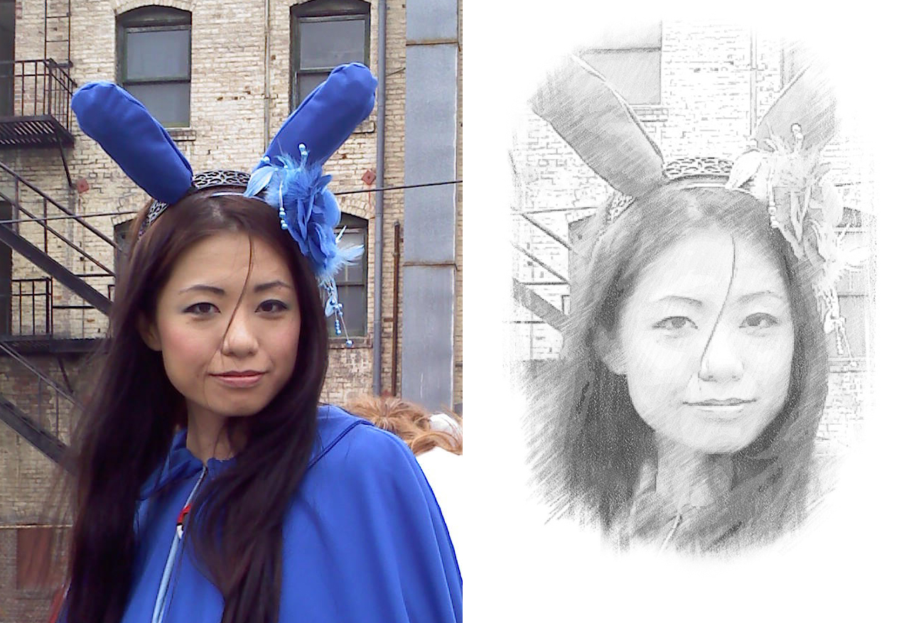 turn your photo into a beautiful pencil sketch