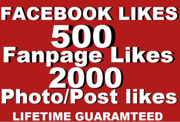 2000 facebook GENUINE photo likes,s
