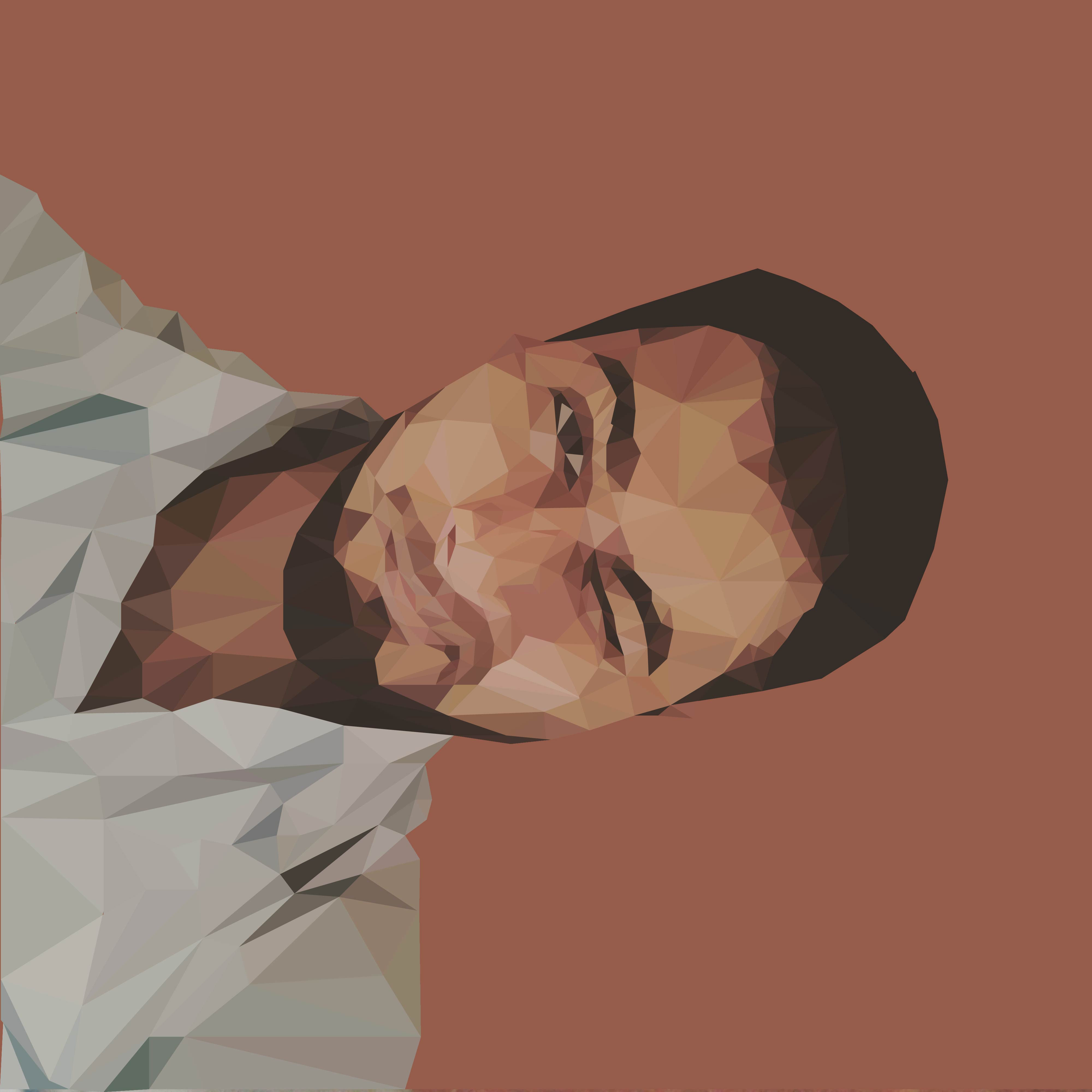 make you look cool with a low poly portrait of your