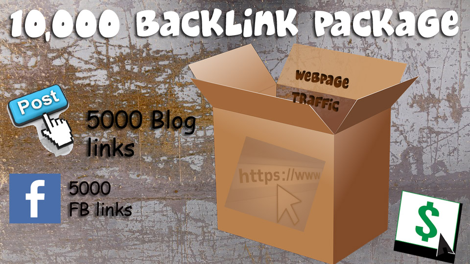 give you 5000 Facebook and 5000 Blog BACKLINKS
