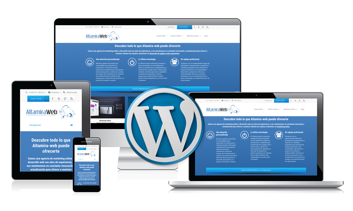 Create your website in WordPress