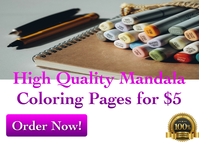 create 10 high quality mandala coloring pages