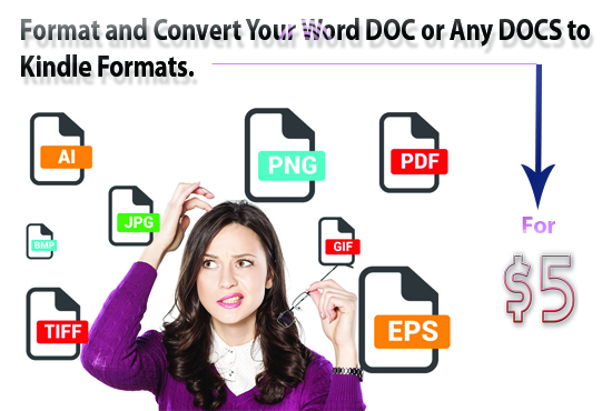onvert your 100 pages PDF doc or any docs to Kindle formats
