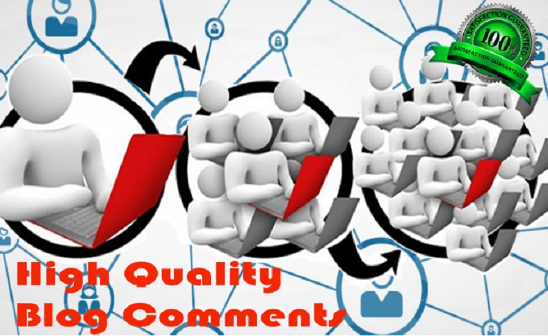 make 6 relevant comments on your website or blog