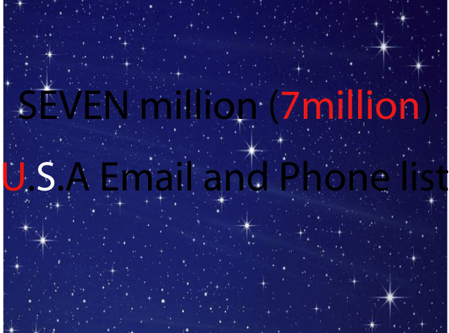 provide 7 million USA emails and phone number list