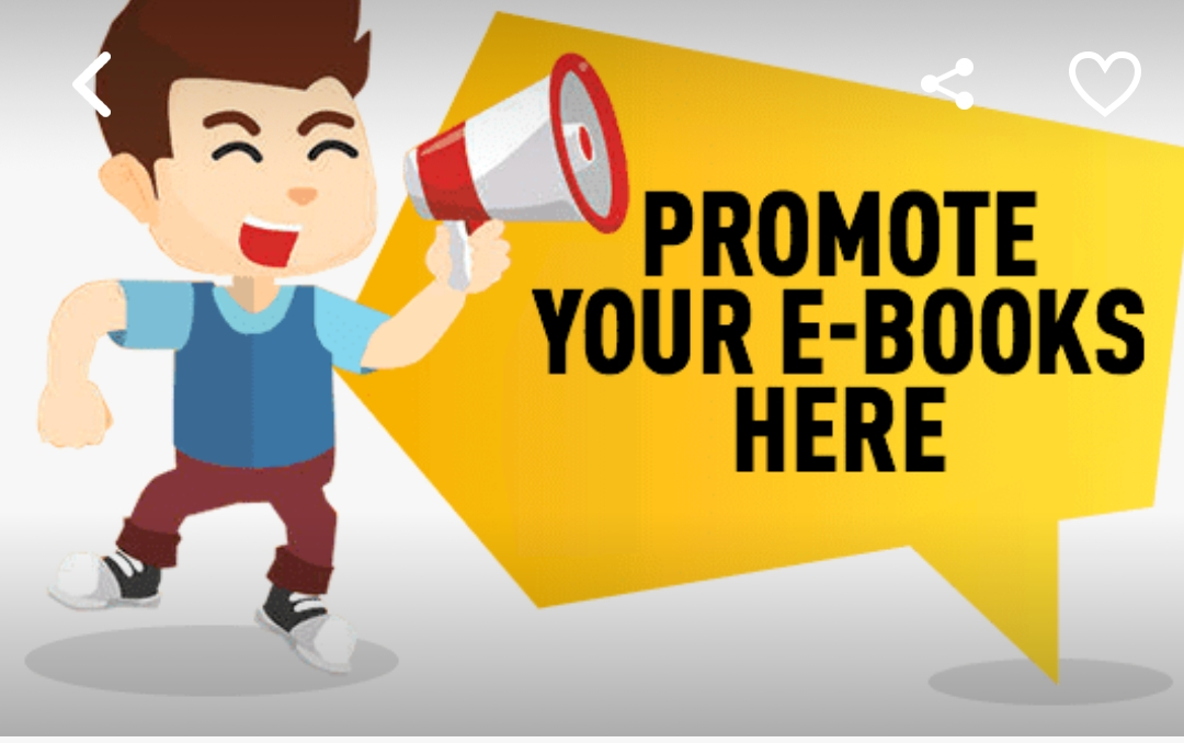 Promote your E-book/product on my blog