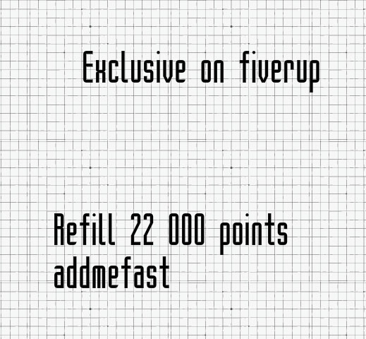refill addmefast account with 22 000 points within 2 hours