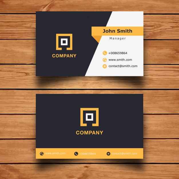 make a two sided stylish bussiness card (High Resulation)