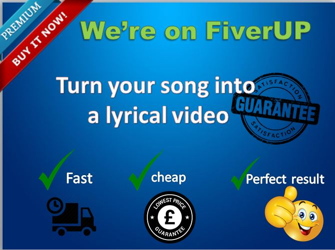 create an ANIMATED lyrical video for your song