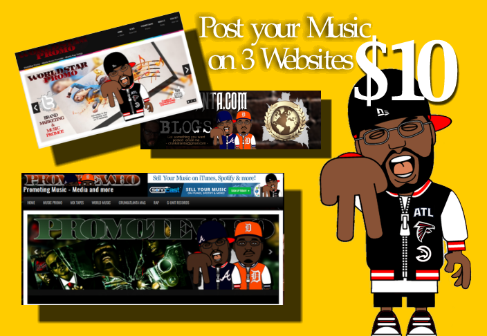 post your Mixtape, music, event on 3 websites