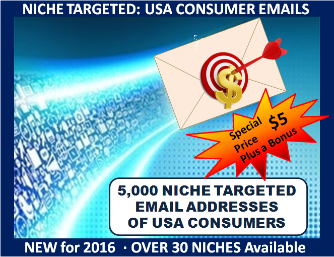 provide  5,000 NICHE Targeted USA Email Addresses