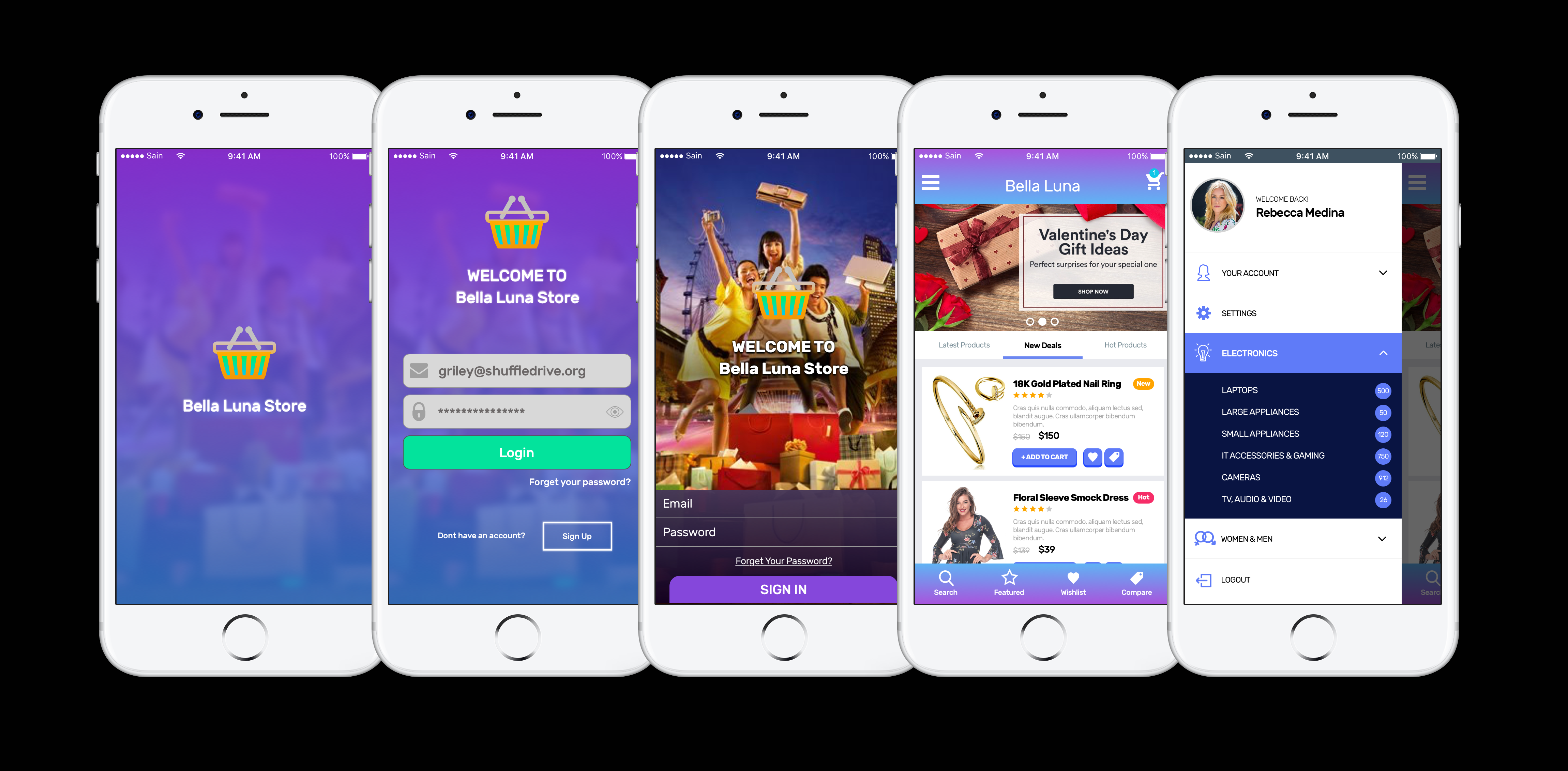 design an attractive UI design for your mobile app