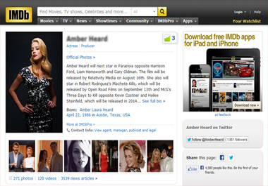 update, correct, add your IMDb page