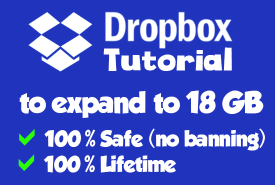 give dropbox tutorial to expand to free 18GB