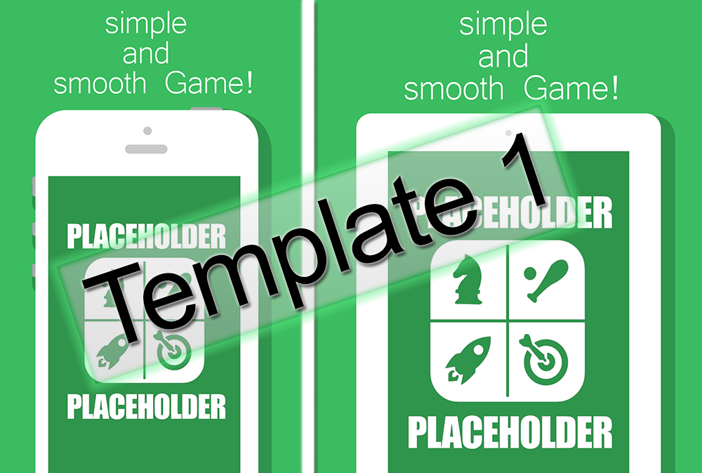 give ios mockup screenshot template ready for appstore