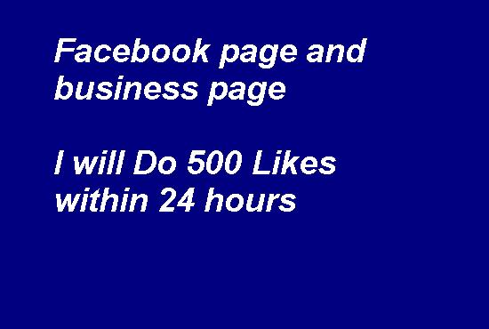 give 500 facebook page likes