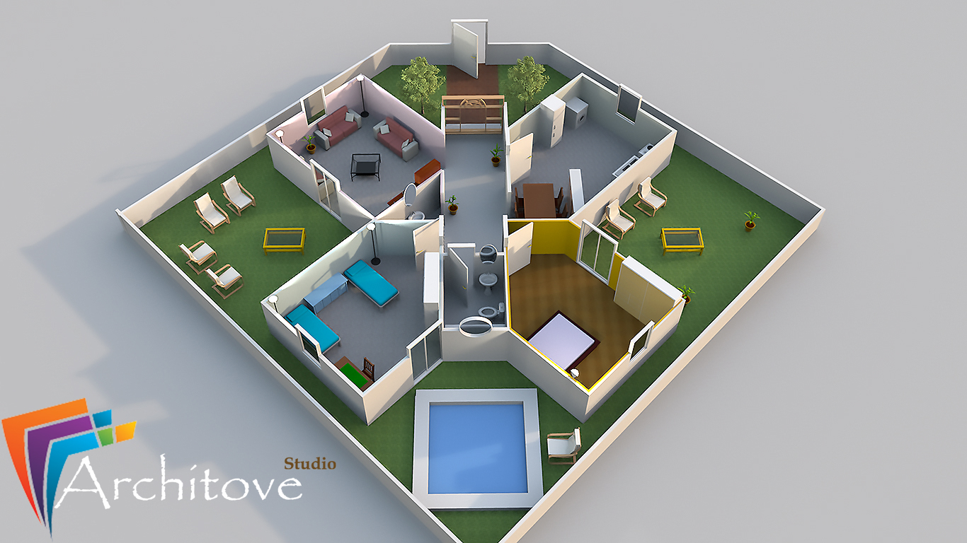 create House Floor Plans and 3D