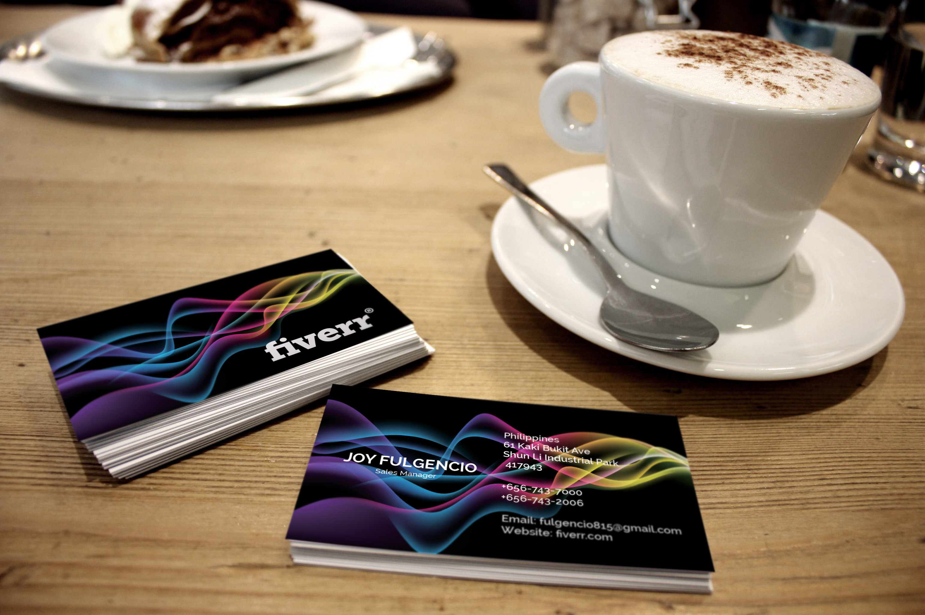 create a colorful simple business card