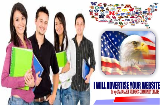 advertise your website to the largest USA student online community