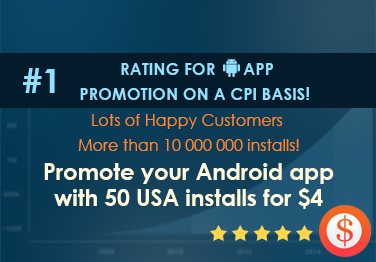 provide 50+ REAL downloads / installs in US for your Android app just
