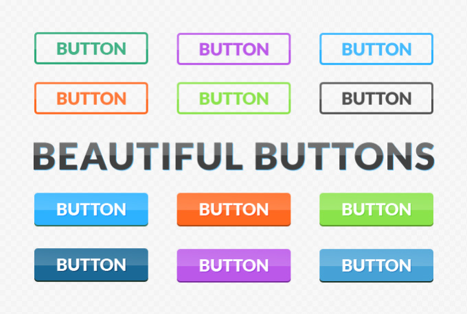 design you 5 beautiful web buttons